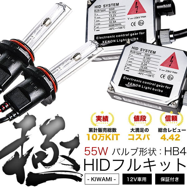 極 10系アルファード前期MZ/MX/AX HIDキット 55W HB4 ロービーム