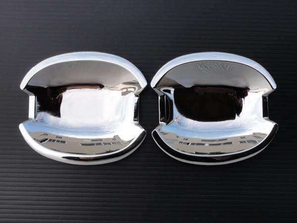 クロームメッキ ドアハンドルカバー ベンツ CLKクラス  W208 CLK200 CLK320 CLK55 AMG 皿_w210