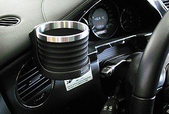 【M's】W219 CLSクラス(05y-10y)ALCABO 高級 ドリンクホルダー(BK+リング)//左H/運転席側 右H/助手席側 ベンツ AMG アルカボ AL-M304BS_※ 画像はBK+リングの取付けサンプル