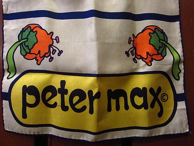 ビンテージ70's★Peter Maxシルクスカーフ★60sピーターマックスサイケポップアートレトロヒッピーメンズレディース1970s USA古着卸_画像5