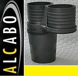 【M's】VW トゥーラン(03y-15y)ALCABO ドリンクホルダー Black_画像1
