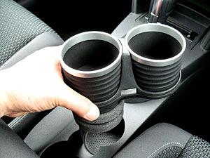 【M's】VW トゥーラン(03y-15y)ALCABO ドリンクホルダー Black_※ 画像はBK+リングの取付けサンプル