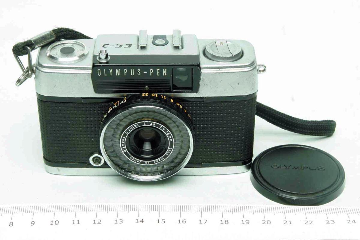 ※ ハーフカメラ オリンパス ペン EE-3 PEN 28mm f3.5 D.Zuiko キャップ付 sa6314_画像1
