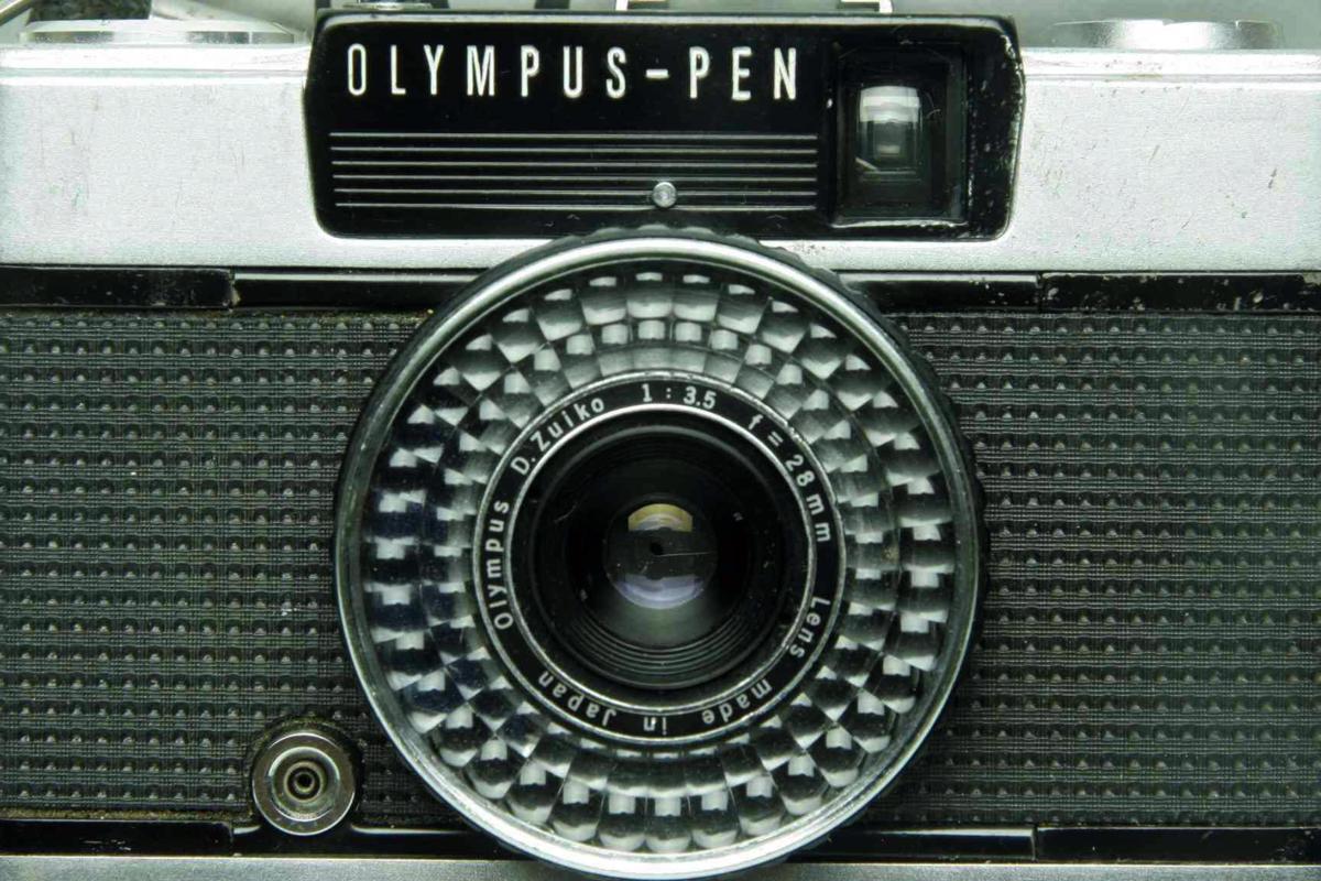 ※ ハーフカメラ オリンパス ペン EE-3 PEN 28mm f3.5 D.Zuiko キャップ付 sa6314_画像4