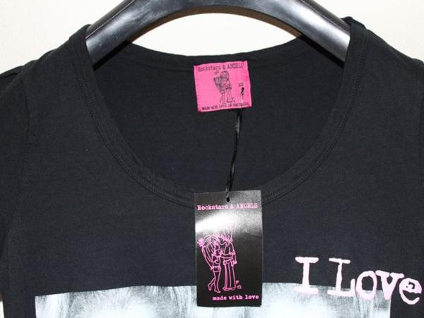 ロックスターズエンジェルス Rockstars&Angels レディース半袖Tシャツ ブラック XSサイズ 新品 黒_画像2