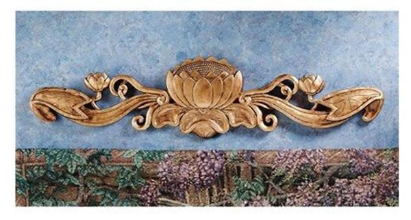 Design Toscano De Velde Water Lily Architectural Wall Pediment