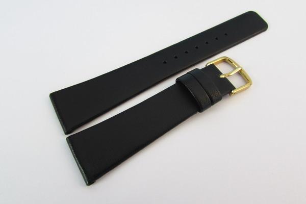 ★バンビ時計用牛皮革バンド 19mm 黒(YAR8) 新品_GLS030-YAR8-1