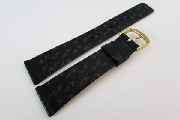 ★バンビ時計用牛皮革バンド 19mm 黒(YAR8) 新品_GLS030-YAR8-2
