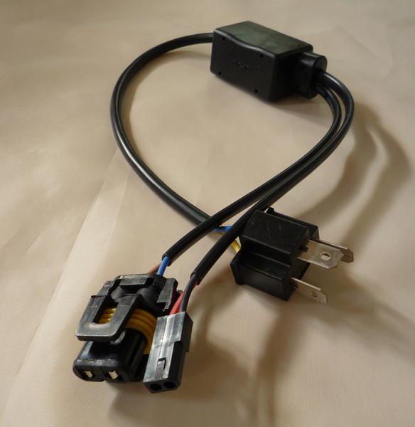 HID 12V 35W/55W H4 Hi/Lo スライド式 リレーレスハーネス-