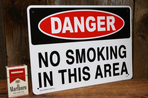危険 禁煙 エリア プラスティック 看板 ◆ タバコ 禁止 区域 JSCA6_画像2