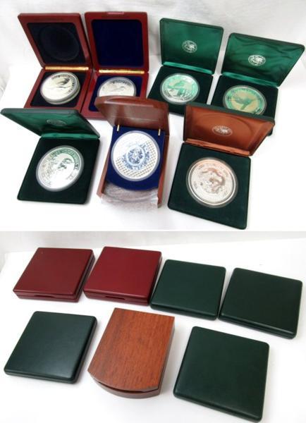 54150★1㎏銀貨 7枚セット 純銀7kg /オーストラリア30ドル(カワセミ)×5枚 + 干支(龍) + 日蘭交流400年記念_画像8
