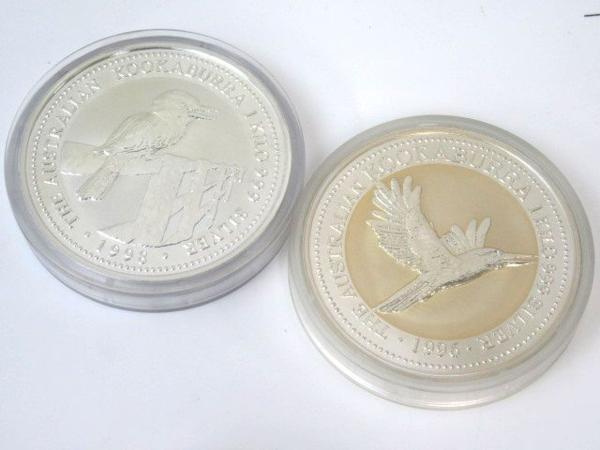 54150★1㎏銀貨 7枚セット 純銀7kg /オーストラリア30ドル(カワセミ)×5枚 + 干支(龍) + 日蘭交流400年記念_画像4