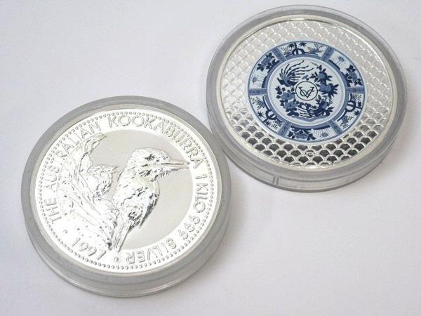 54150★1㎏銀貨 7枚セット 純銀7kg /オーストラリア30ドル(カワセミ)×5枚 + 干支(龍) + 日蘭交流400年記念_画像5
