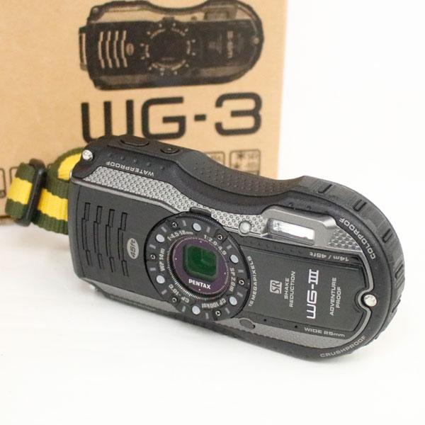 PENTAX 防水 デジタルカメラ WG-3 ブラック HDMI ペンタックス 中古