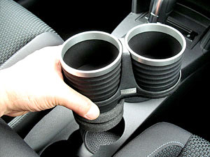 【M's】VW トゥーラン(03y-15y)ALCABO ドリンクホルダー 黒色_※ 画像はBK+リングの取付けサンプル